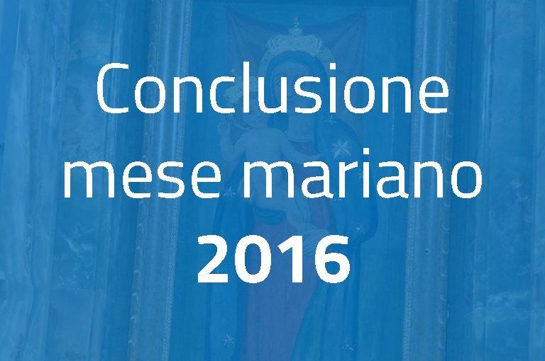 Conclusione del mese mariano 2016