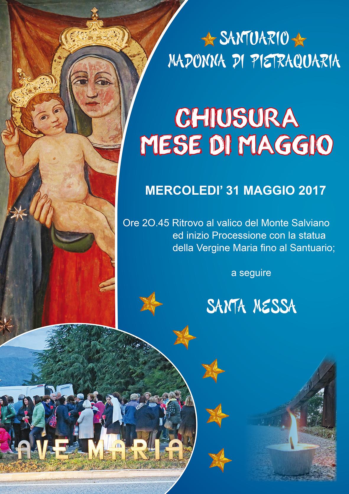 CHIUSURA MESE DI MAGGIO